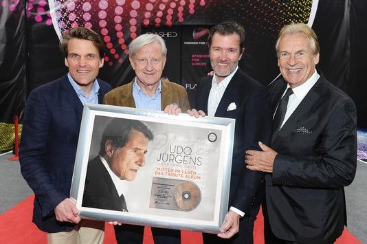 in Ehrung von Udo Jürgens am Eurovision Song Contest in Wien: 7 mal Doppelplatin, Platin und Gold (FOTO)