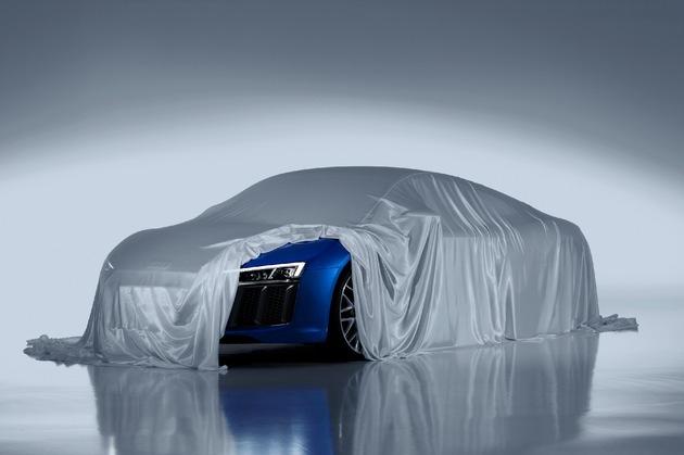 in Audi zeigt Laser-Scheinwerfer des neuen R8 (FOTO)