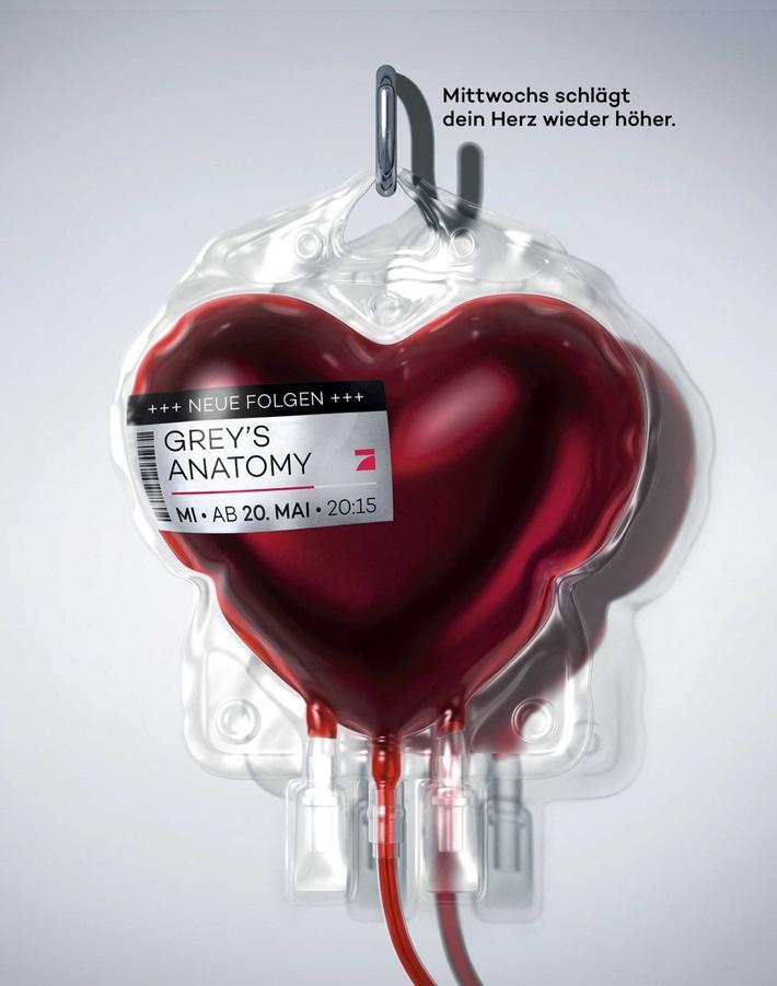 """in ProSieben lässt """"Greys Anatomy"""" an sein Herz(stück): Die Sender-Ikone pulsiert im Takt der neuen Staffel (FOTO)"""