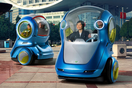 GM EN V 1 in GM EN-V Concept: Das selbstfahrende Elektroauto der Zukunft