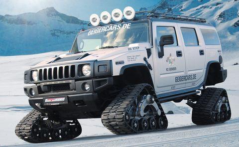 Hummer1 in GeigerCars: Hummer mit Kettenantrieb