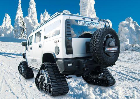 Hummer2 in GeigerCars: Hummer mit Kettenantrieb