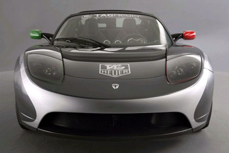 TAG Heuer Tesla Roadster Sport 1 in TAG Heuer Tesla Roadster Sport: Der Elektro-Flitzer mit neuem Zeitgeist