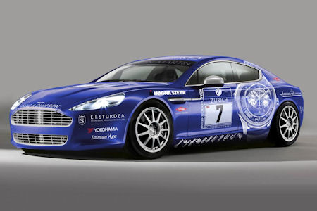 Aston Martin Rapide N24 1 in Aston Martin Rapide: Renneinsatz beim 24-Stunden-Rennen Nürburgring