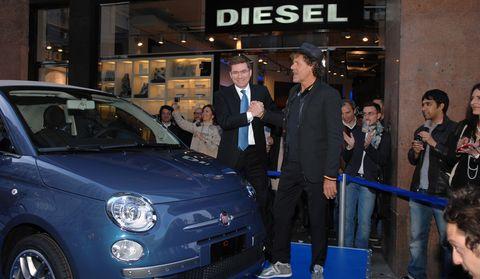 Diesel2 in Italiener in Jeans: Fiat 500C by Diesel