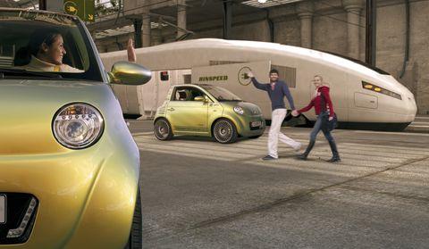 Uc 2 in UC? Rinspeed vereint Auto, Bahn und Web