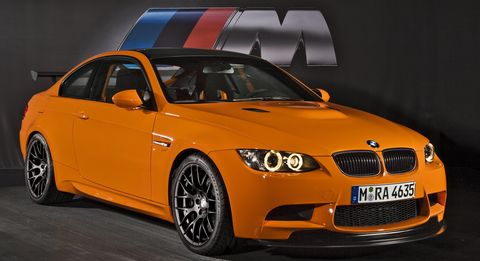 Bmwm3gts2 in Motorsport-Geschichte in Feuerorange: BMW M3 GTS