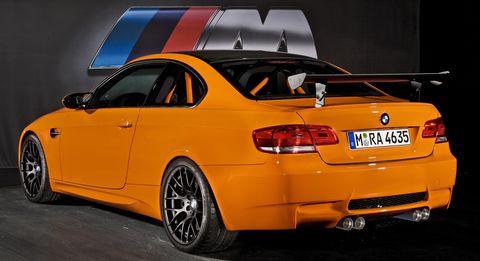 Bmwm3gts3 in Motorsport-Geschichte in Feuerorange: BMW M3 GTS