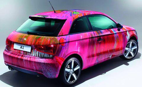 Damian-hirst-a1 in Audi A1 von Damien Hirst für 420.000,- Euro