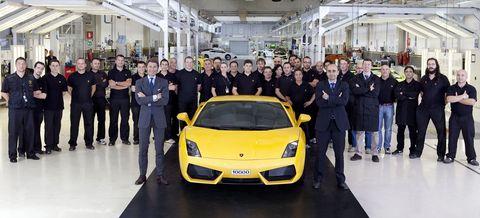 Gallardo N 10 000 in 10.000ster Lamborghini Gallardo in Sant'Agata Bolognese