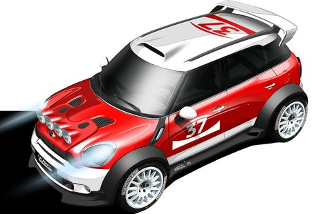 MINI-Countryman-WRC in Mini Countryman WRC startet in der Rallye-Weltmeisterschaft