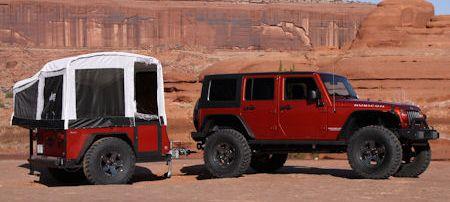 Jeep Offroad Camper2 in Jeep Offroad Camper: Wohnanhänger für das Gelände