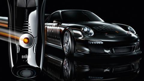 Porsche-braun in Porsche geht mit Braun ins Rennen