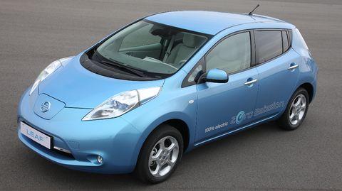 Elektroauto-Nissan-Leaf in Elektro-Studie Townpod von Nissan