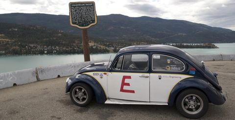 Elektrokaefer in Elektro-Käfer: Ricky Gu durchquert Kanada