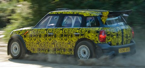 Mini-countryman-wrc in Shakedown für den Mini Countryman WRC