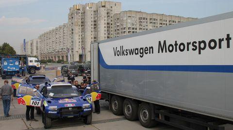 Race-touareg-3-4 in Volkswagen Race Touareg 3: Erste Generalprobe