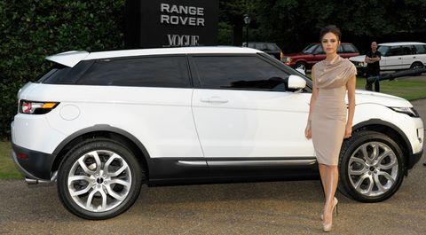 Victoria-beckham in Range Rover Evoque mit offizieller Premiere