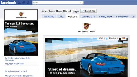 Porsche-facebook in Porsche sperrt Facebook-Zugang für Mitarbeiter
