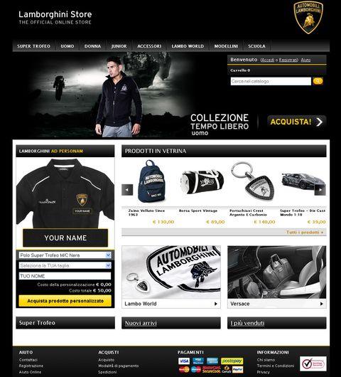 Lamborghini-online-store in Lamborghini startet neuen Online-Shop