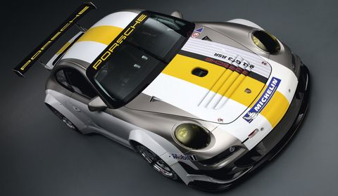 Porsche-911-GT3-RSR-4 in Weltpremiere des Porsche 911 GT3 RSR