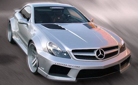 Misha-Mercedes-SL-Widebody-2 in Misha Mercedes SL Widebody: Im Look des SL 65 AMG Black Series