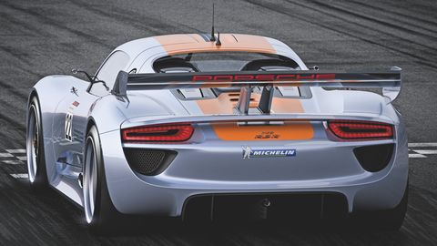 Porsche-918-rsr-6 in Porsche 918 RSR Hybrid: Weltpremiere des V8 mit Elektromotoren