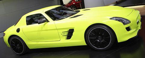Sls-amg-ecell-detroit in Mercedes-Benz SLS AMG E-Cell kann ab 2013 bestellt werden
