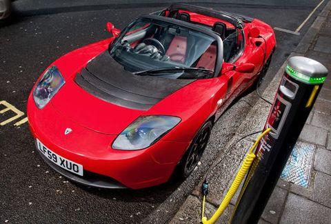 Tesla-roadster-elektroauto in Tesla: Recycling-Programm für Batterien