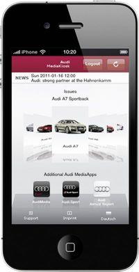 Audi-media-kiosk in Audi: Fan- und Presse-App für iPad und iPhone