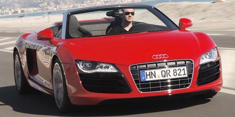Audi-r8-spyder in Audi: R8, RS 3 und A8 rollen auf Continental