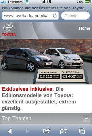 Toyota-de-iphone in Entune: Toyota setzt auf iPhone und Co.