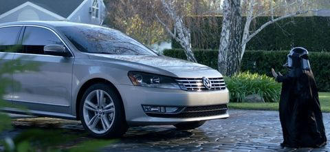 Volkswagen-super-bowl-darth-vader-passat in Super Bowl findet mit Volkswagen statt