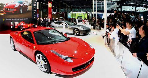 Ferrari-shanghai in Der Ferrari FF zeigt sich in Asien