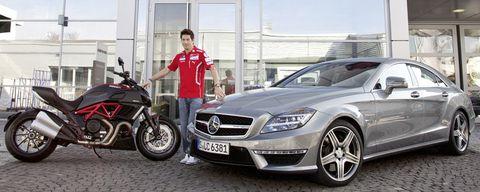 Nick-hayden-amg-1 in Ducati-Profi Nicky Hayden fährt Mercedes CLS 63 AMG