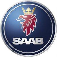 Saab-logo in Saab kann nicht mehr zahlen