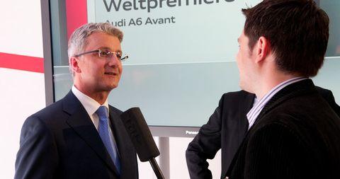 Rupert-stadler in Audi A6 Avant: Schöne Hüllen über Berlin