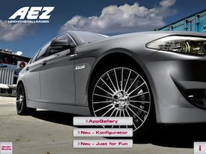 IPad-AEZ-Wheels-Configurator in