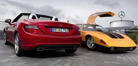 Mercedes-slk-250-cdi-und-c111-a in Diesel-Generationen: Mercedes C 111 trifft SLK 250 CDI