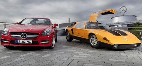 Mercedes-slk-250-cdi-und-c111-c in