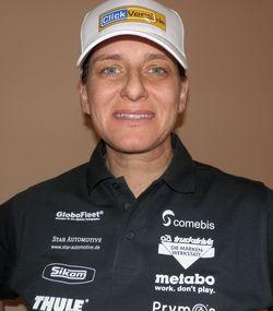 Ellen-Lohr in Ellen Lohr startet bei der Rallye Dakar 2012 im Presseauto