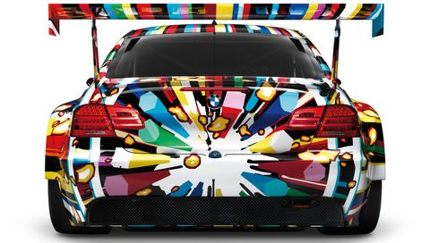 Jeff-Koons-BMW-M3-GT2-Art-Car in BMW M3 GT2 Art Car kommt in neuer Serie