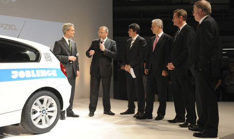 Joblinge-gAG in BMW 116d in Leipzig als Mega-Jubilar