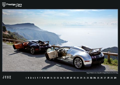 PRESTIGE-CARS-Kalender-2012-Bugatti-Veyron in The PRESTIGE CARS Calendar 2012: A selection of our finest photographs