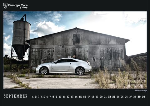 PRESTIGE-CARS-Kalender-2012-Cadillac-CTS-V-Coupe in The PRESTIGE CARS Calendar 2012: A selection of our finest photographs