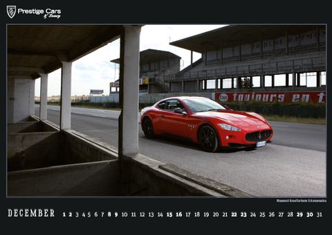 PRESTIGE-CARS-Kalender-2012-Maserati-GranTurismo-S-Automatica in The PRESTIGE CARS Calendar 2012: A selection of our finest photographs