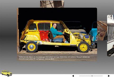 Renault-4-iPad-App in Vintage: iPad-App vom Renault 4