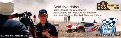 Ellenlohr-com in Ellen Lohr startet bei der Rallye Dakar 2012 im Presseauto